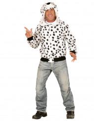 Veste à capuche chien dalmatien adulte