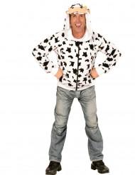 Veste à capuche vache adulte