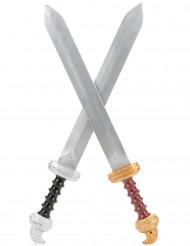 Kit 2 épées gladiateur Enfant en plastique