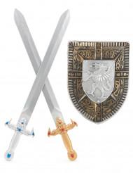 Kit bouclier et 2 épées Enfant