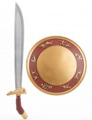 Kit bouclier et  épée gladiateur Enfant