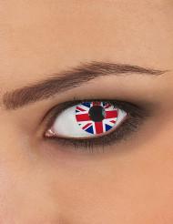 Lentilles fantaisie drapeau Royaume Uni adulte