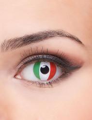 Lentilles fantaisie drapeau Italie adulte