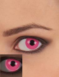 Lentilles fantaisie UV rose adulte