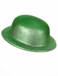 Chapeau melon vert à paillettes adulte Saint Patrick