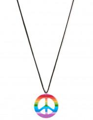 Collier hippie multicolore Adulte