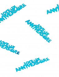 Confettis Joyeux anniversaire bleu