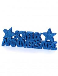 Décoration de table Anniversaire bleu foncé à paillettes