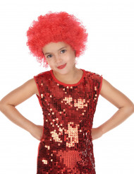 Perruque disco enfant rouge