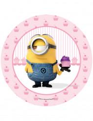 Disque en sucre Stuart cupcake Minions™ 20.5 cm