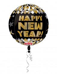 Ballon en aluminium doré Happy New Year