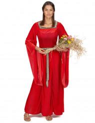 Déguisement princesse médiévale rouge femme