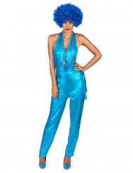 Déguisement combinaison sexy disco bleue