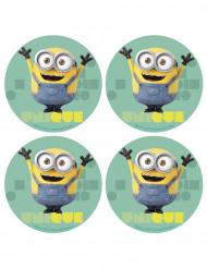 12 Mini disques Azyme Minions™ 4.5 cm