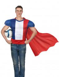 Haut de héros avec cape adulte - France