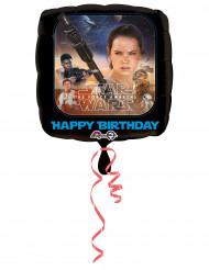 Ballon en aluminium carré joyeux anniversaire Star Wars VII ™