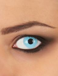 Lentilles fantaisie oeil bleu glacé adulte