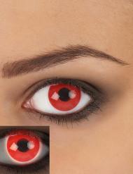 Lentilles fantaisie UV rouge adulte