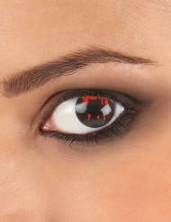 Lentilles fantaisie oeil blessé fond noir adulte Halloween