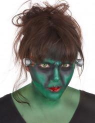 Kit maquillage monstre vert avec lentilles fantaisie adulte