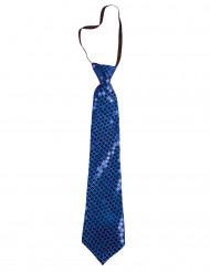 Cravate à paillettes bleues adulte