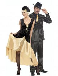 Déguisement de couple charleston doré