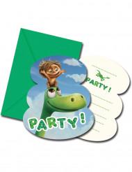 6 Cartes d'invitation + enveloppes Le Voyage d'Arlo ™