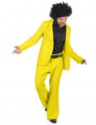 Déguisement disco jaune adulte