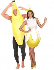 Déguisement de couple banane adultes