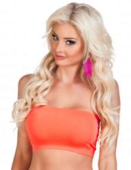 Bandeau stretch orange fluo femme