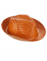 Chapeau Panama orange Adulte