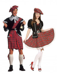 Déguisement de couple écossais adultes