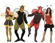 Déguisement de groupe abeilles et coccinelles adultes