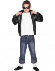 Veste noire Grease™ garçon