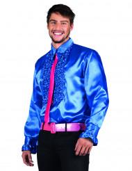 Chemise disco bleu homme