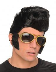 Perruque Rockeur homme avec lunettes