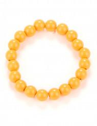 Bracelet perles orange adulte