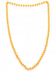 Collier perles orange adulte