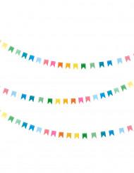 Guirlande mini fanions multicolores 2 m