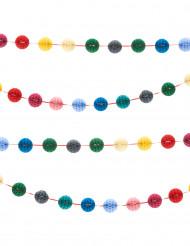 Guirlande mini boules alvéolées multicolores 3 m