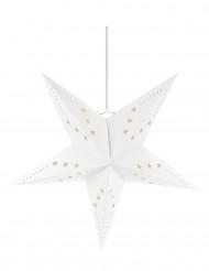 Suspension étoile blanche 60 cm