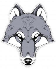 Masque papier Loup