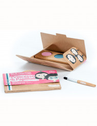 Kit maquillage 3 couleurs princesse & papillon rose BIO Namaki Cosmetics ©
