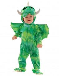 Déguisement combinaison dinosaure vert bébé