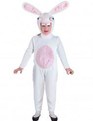 Déguisement combinaison lapin blanc stupide enfant