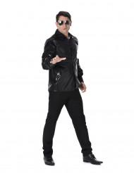 Chemise disco à sequins noirs homme
