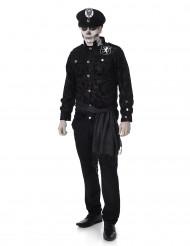 Déguisement officier zombie homme
