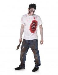 Déguisement zombie avec côtes en latex homme halloween