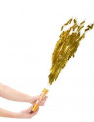 Canon à confettis dorés 20 cm
