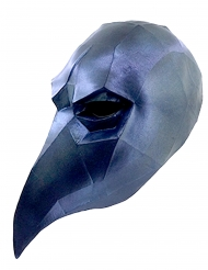 Masque corbeau low poly